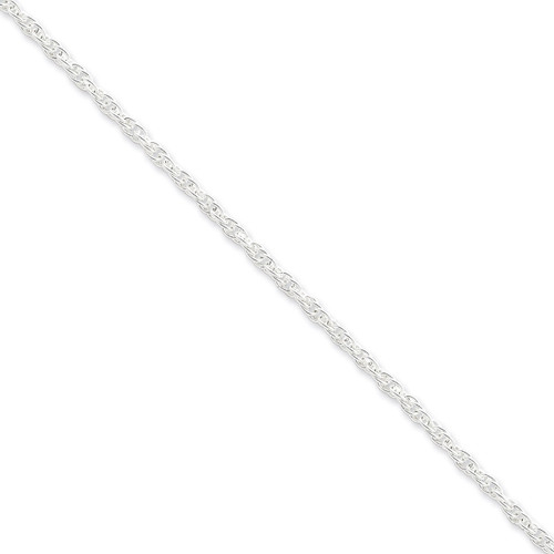 16 Inch 2.75mm Loose Rope Chain Sterling Silver QFC44-16
