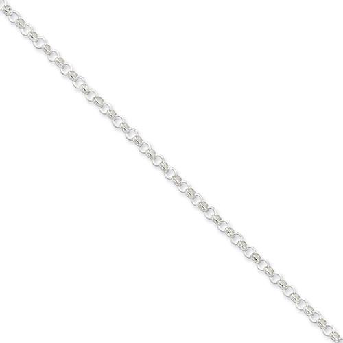 24 Inch 3.0mm Belcher Light Chain Sterling Silver QFC74-24
