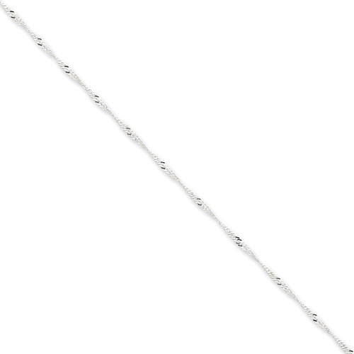 16 Inch 1.75mm Singapore Chain Sterling Silver QFC98-16