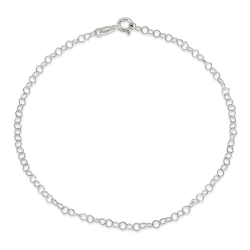 10 Inch 0.85mm Fancy Anklet Sterling Silver QG1375-10