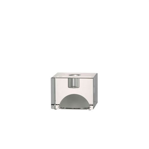 Rosenthal Block Glas Candleholder 3 Square 2 1/3 inch Tall - Clear