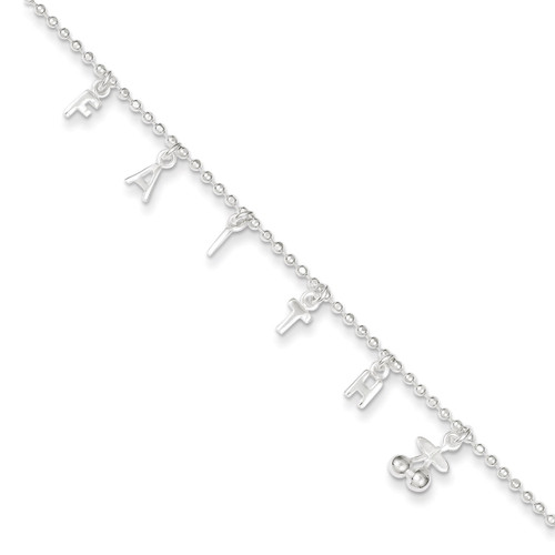 10 Inch Extension Anklet Sterling Silver QG3172-10