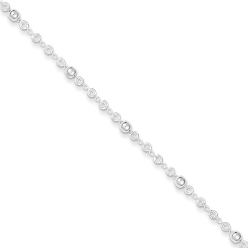 10 Inch Extension Anklet Sterling Silver QG3176-10
