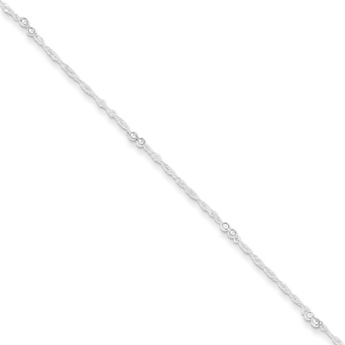 10 Inch Extension Anklet Sterling Silver QG3178-10