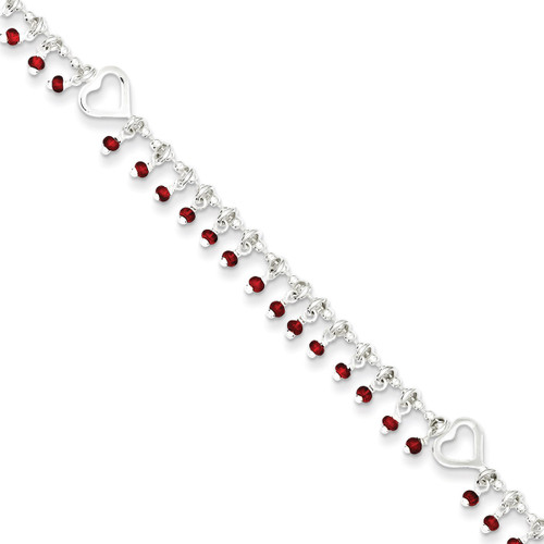 10 Inch Anklet Sterling Silver QG3185-10