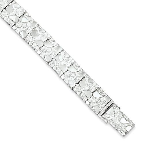 8.5 Inch Nugget Bracelet Sterling Silver QG3324-8.5