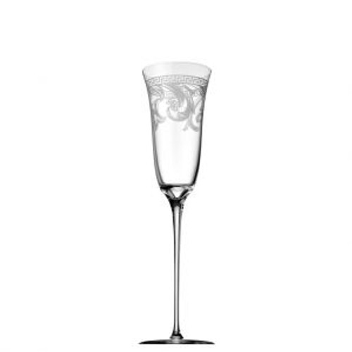 Versace Arabesque Champagne Flute 8 ounce Clear