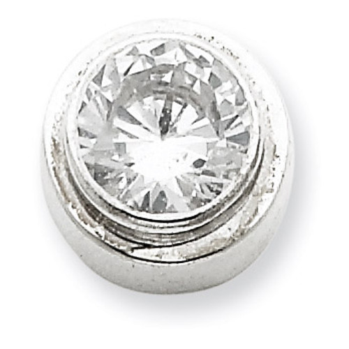 6mm Diamond Round Slide Sterling Silver QP819