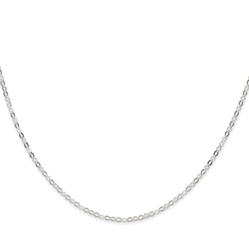 8 Inch 2.25mm Fancy Pendant Chain Sterling Silver QPE16-8