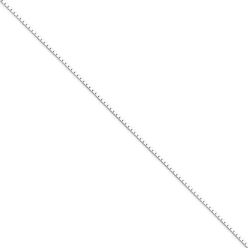 24 Inch 1mm Mirror Box Chain Sterling Silver QPE23-24