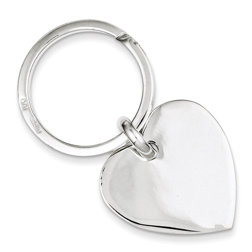 Heart Key Ring Sterling Silver QQ115