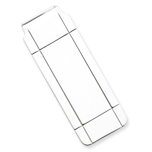 Money Clip Sterling Silver QQ39