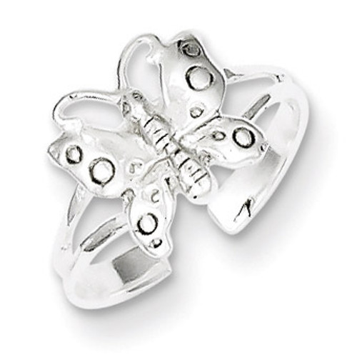 Fancy Toe Ring Sterling Silver Polished QR2658