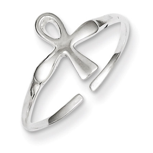 Ankh (Egyptian Cross) Toe Ring Sterling Silver QR839