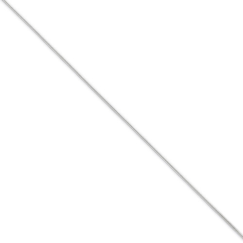 20 Inch 1mm Round Snake Chain Sterling Silver QSN030-20
