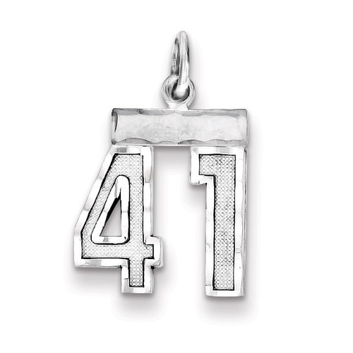Number 41 Charm Sterling Silver QSN41