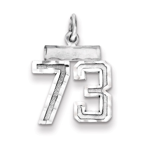 Number 73 Charm Sterling Silver QSN73