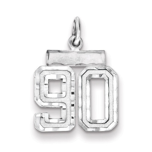 Number 90 Charm Sterling Silver QSN90