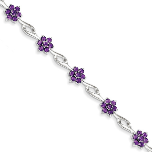 Amethyst Bracelet Sterling Silver QX862AM