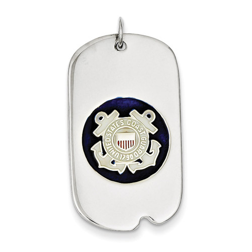 US Coast Guard Dog Tag Sterling Silver XSM133
