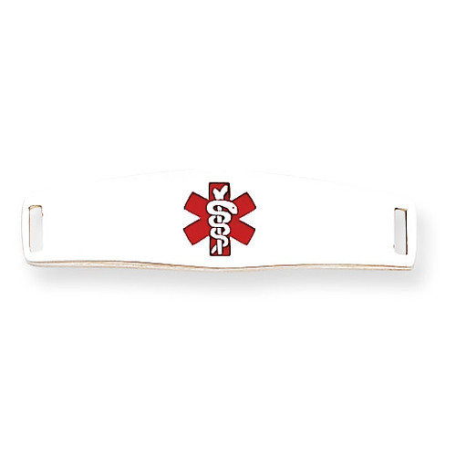 Medical ID Plate Sterling Silver XSM51