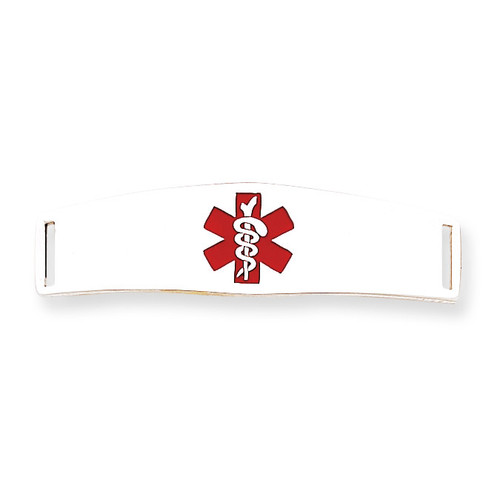Medical ID Plate Sterling Silver XSM52