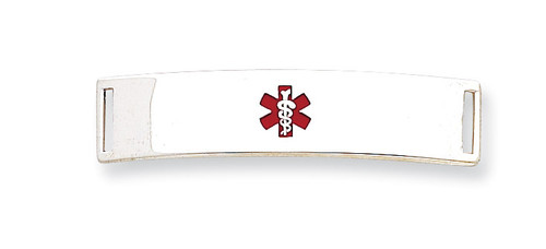 Medical ID Plate Sterling Silver XSM71