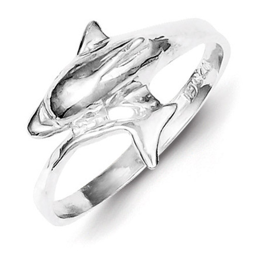 Dolphin Ring Sterling Silver QR162