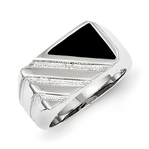 Men's Onyx Ring Sterling Silver MPN: QR2456