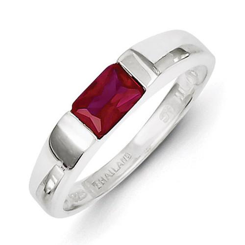 Red Diamond Ring Sterling Silver MPN: QR4327