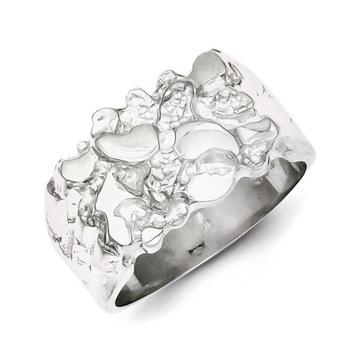 Woman's Nugget Ring Sterling Silver QR4445