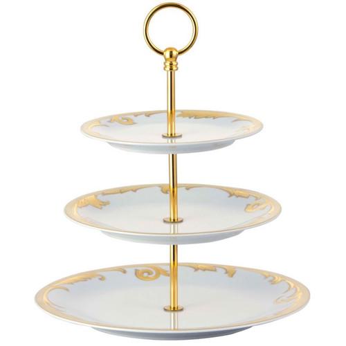 Versace Arabesque Etagere Porcelain IMPORT 7 1/2 X 8 2/3 X 11 inch