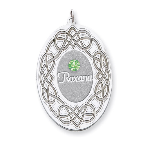 1 Birthstone Family Crystal Pendant Sterling Silver QMP14/1SS