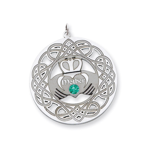 1 Birthstone Family Crystal Pendant Sterling Silver QMP6/1SS