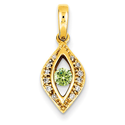 1 Birthstone Family Jewelry Diamond Semi-Set Pendant 14k Yellow Gold XMP32/1