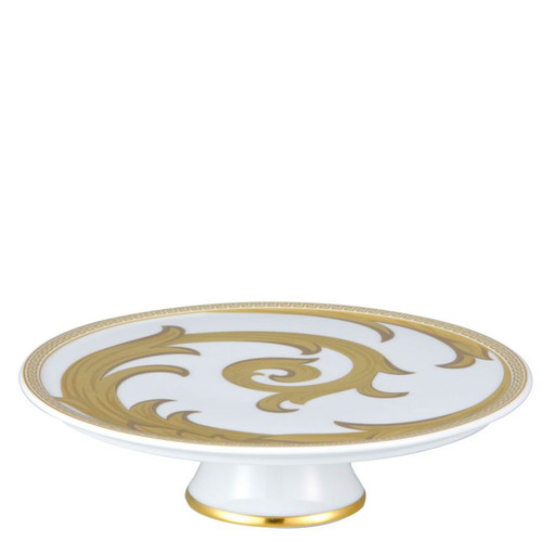 Versace Arabesque Gold Footed Platter 8 1/4 inch
