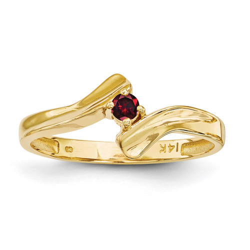 1 Birthstone Mothers Ring 14k Gold Polished XMR13/1