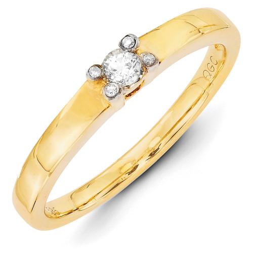 1 Birthstone Family Jewelry Diamond Semi-Set Ring 14k Yellow Gold XMR31/1