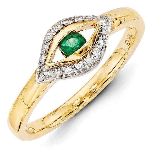 1 Birthstone Family Jewelry Diamond Semi-Set Ring 14k Yellow Gold XMR32/1