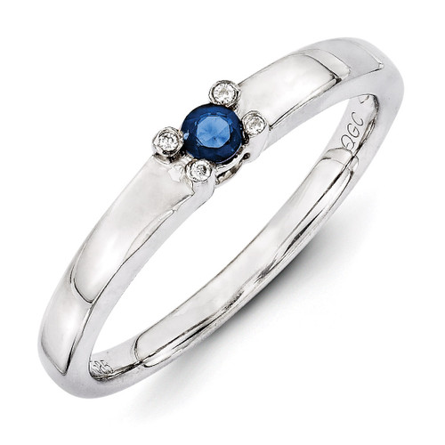 1 Birthstone Family Jewelry Diamond Semi-Set Ring 14k White Gold XMRW31/1