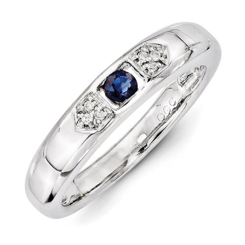 1 Birthstone Family Jewelry Diamond Semi-Set Ring 14k White Gold XMRW48/1