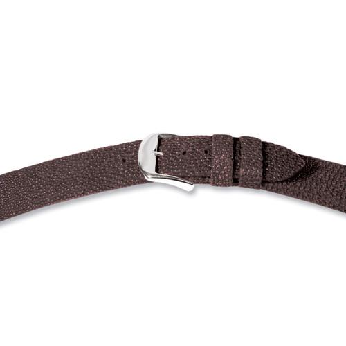20mm Brown Genuine Stingray Watch Band 7.4 Inch Silver-tone Buckle BA206-20
