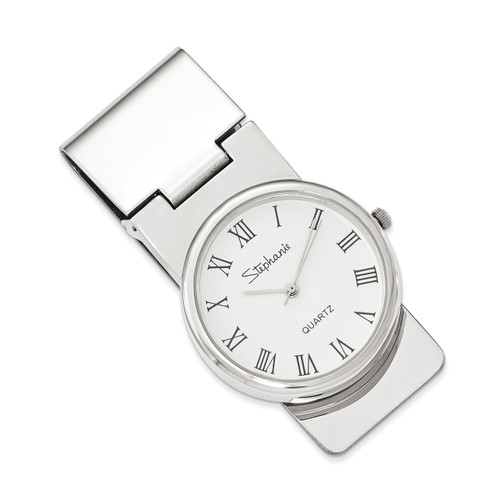 Round Money Clip with White Face Clock GM12365