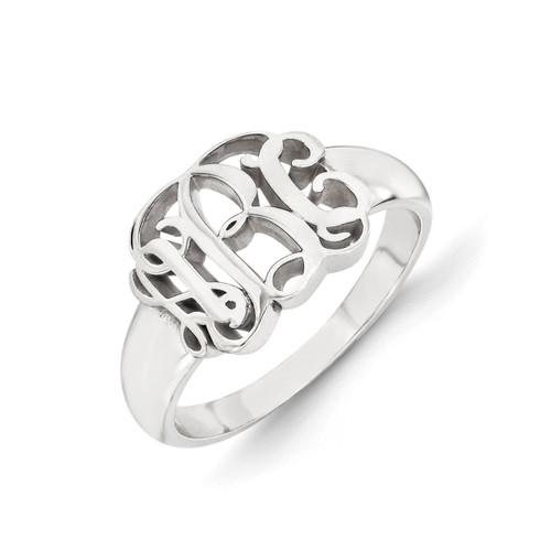 Monogram Signet Ring 10k White Gold 10XNR51W