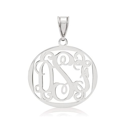 Monogram Pendant 0.18 Gauge Sterling Silver XNA500SS