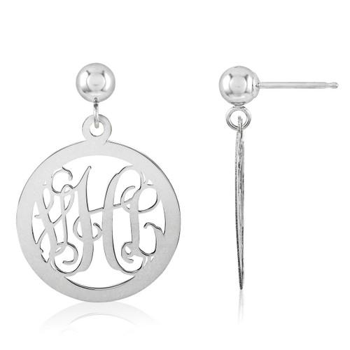 Monogram Earring Sterling Silver XNE16SS