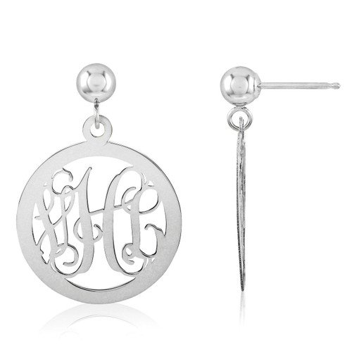 Monogram Earring 14k White Gold XNE16W