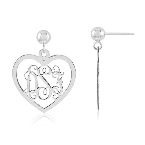 Monogram Earring 14k White Gold XNE18W