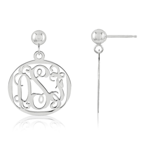 Monogram Earring Sterling Silver XNE20SS