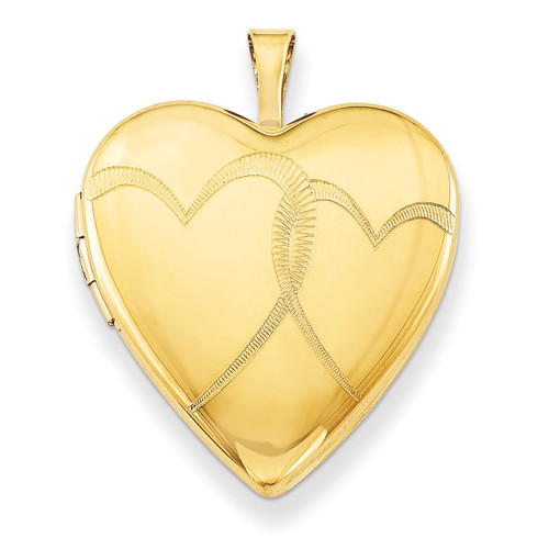 1/20 Gold Filled 20mm Entwined Hearts Heart Locket 1/20 Gold Filled 20mm QLS272-18